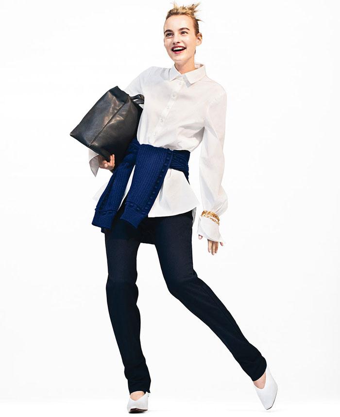 Model with black bag