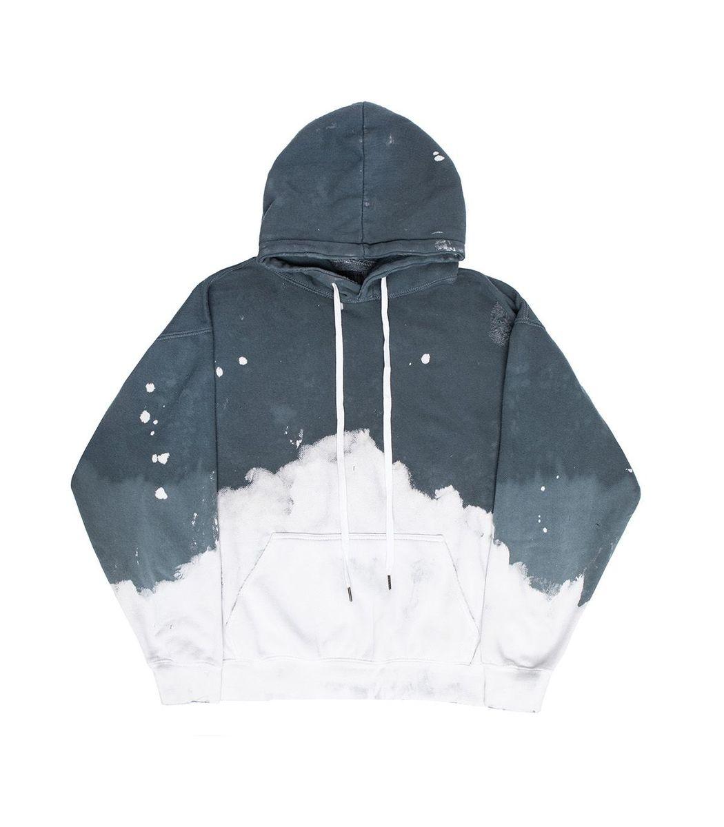 La Detresse Cottons Acid Wash Charcoal Hoodie Jumper