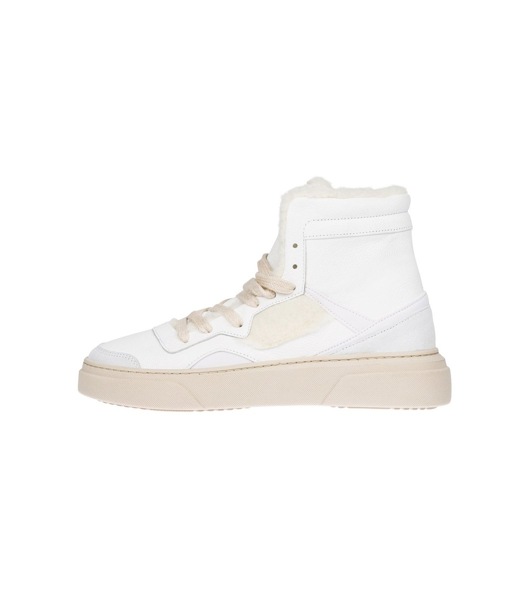 Dorothee Schumacher Sporty Movement High Top Sneaker in Pure White