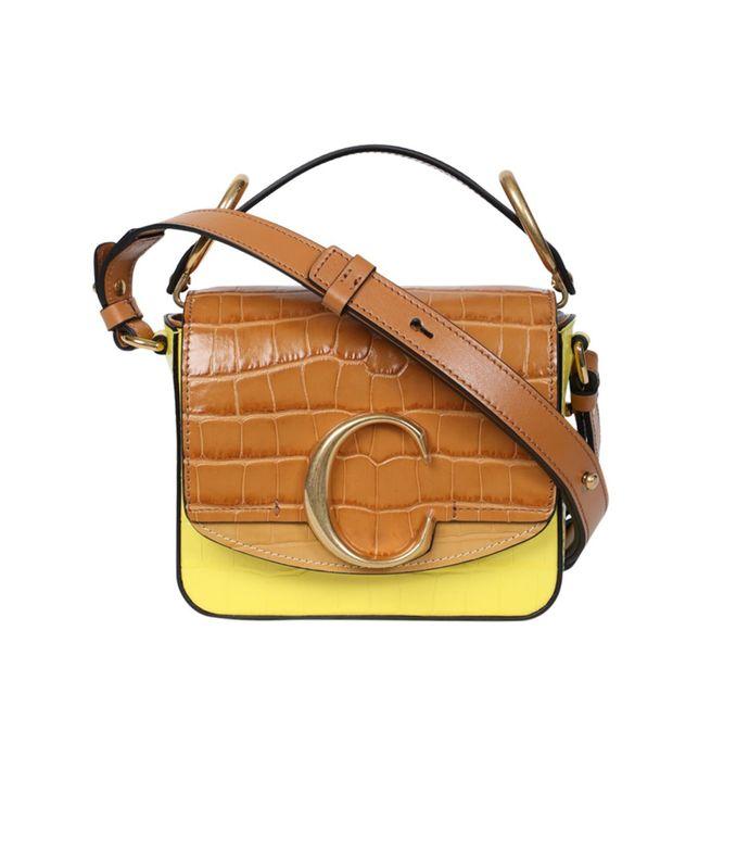 mini c box bag, joyful yellow