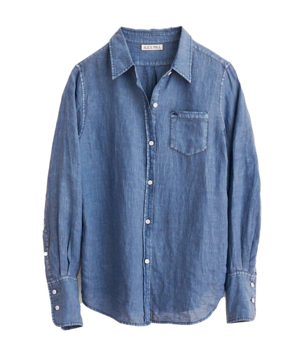 Alex Mill Linen Standard Shirt in Indigo