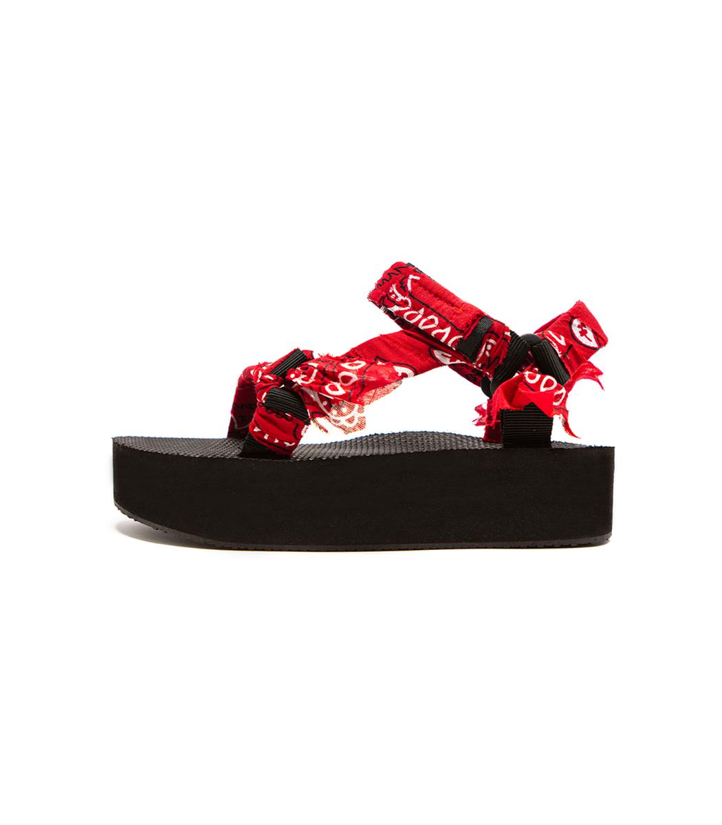 Arizona Love Platforms Trekky Platform Sandal in Red