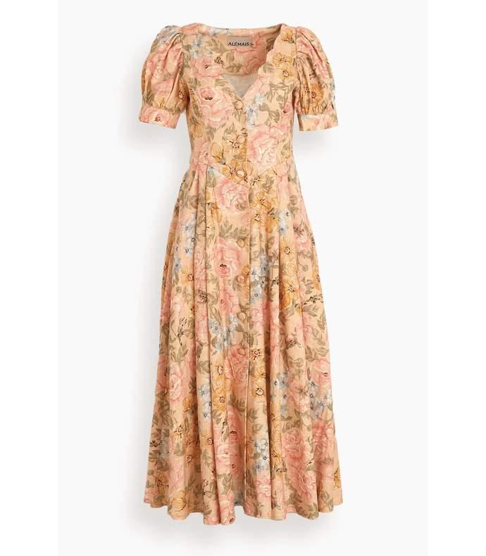patricia midi dress in floral