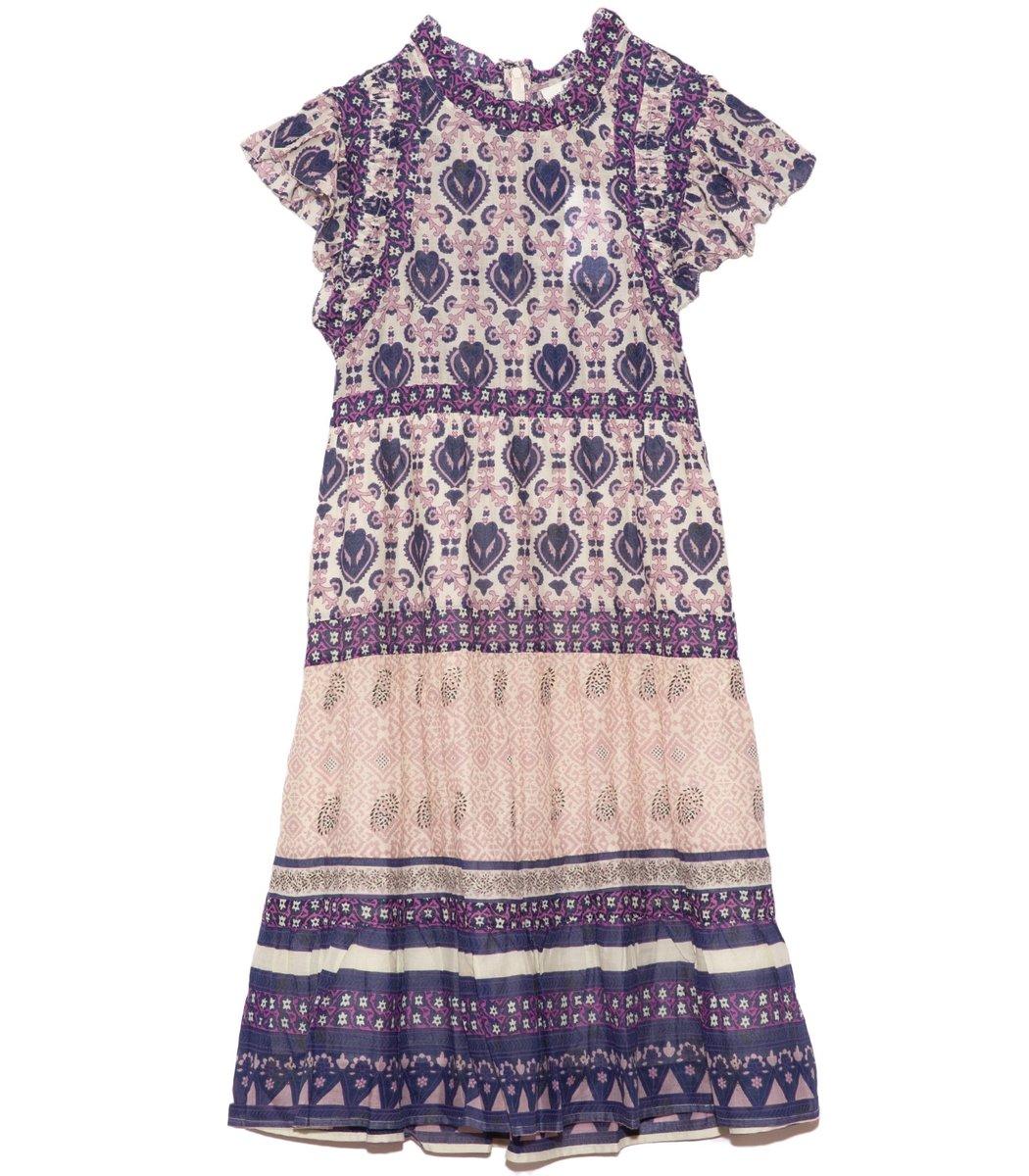 Sea Brigitte Border Mini Dress in Violet