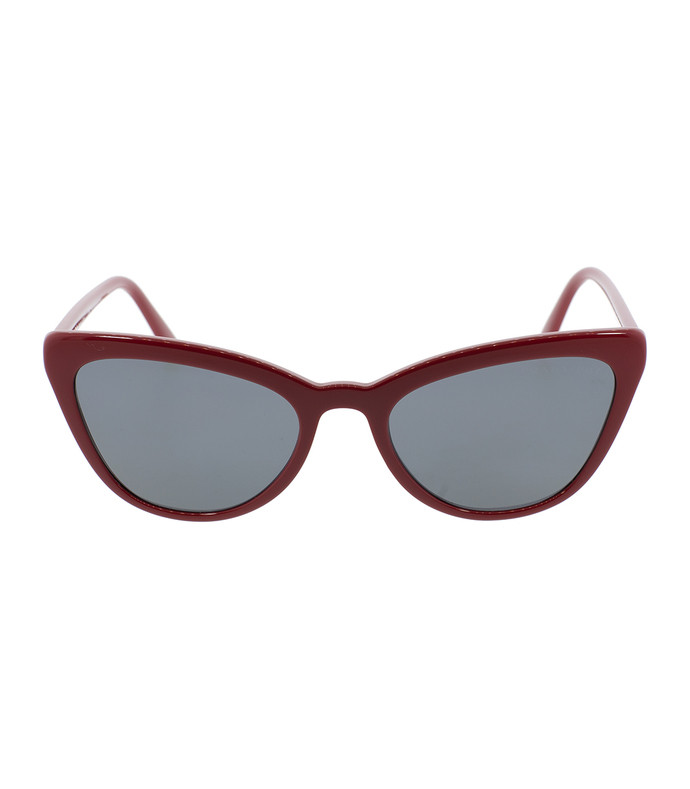 red catwalk cat eye sunglasses