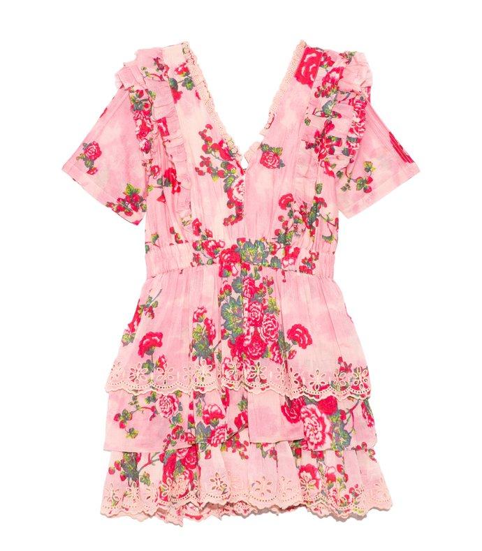 aldina dress in pink desert