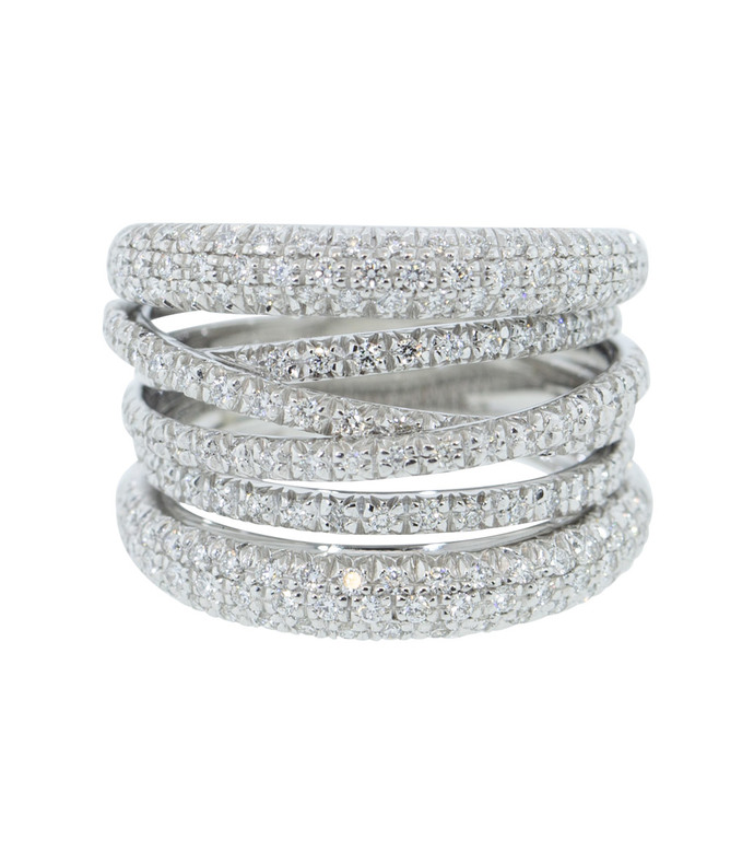 diamond scribble band ring