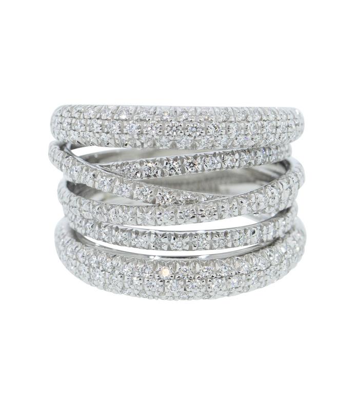 diamond scribble band ring