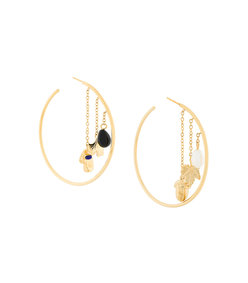 gold barbizon hoop earrings