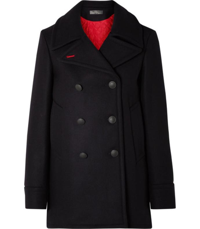 nella wool-blend felt coat