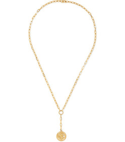 karma 18-karat gold diamond necklace