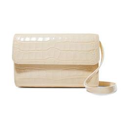 cross-over leather shoulder bag