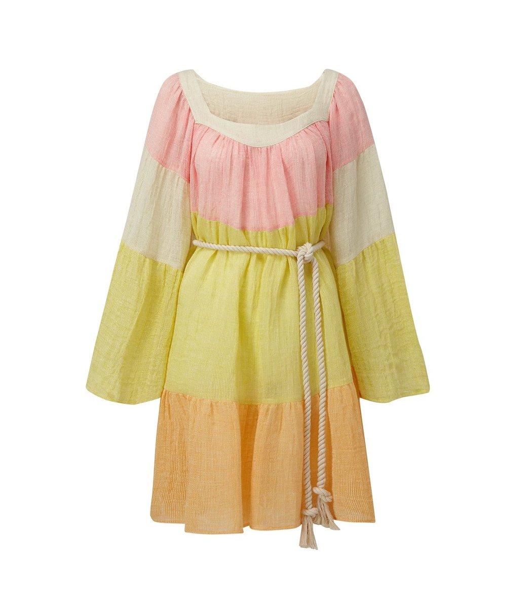 Lisa Marie Fernandez Peasant Mini Dress