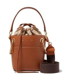 roy mini leather bucket bag