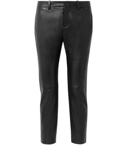 tel aviv cropped leather tapered pants