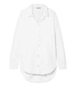 oversized brushed cotton-poplin shirt