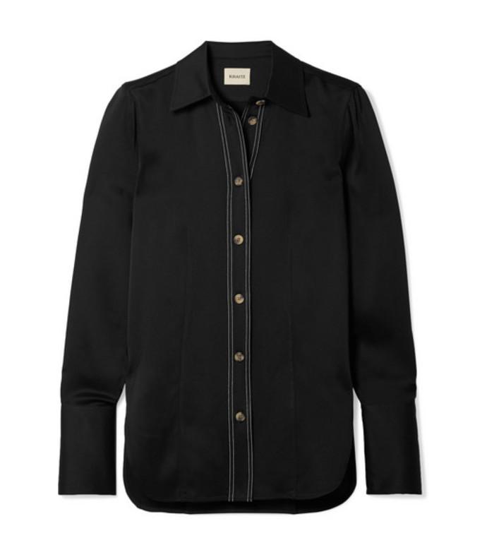 delia crepe shirt
