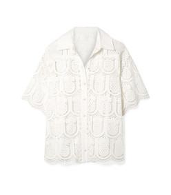 wayfarer cotton crochet shirt