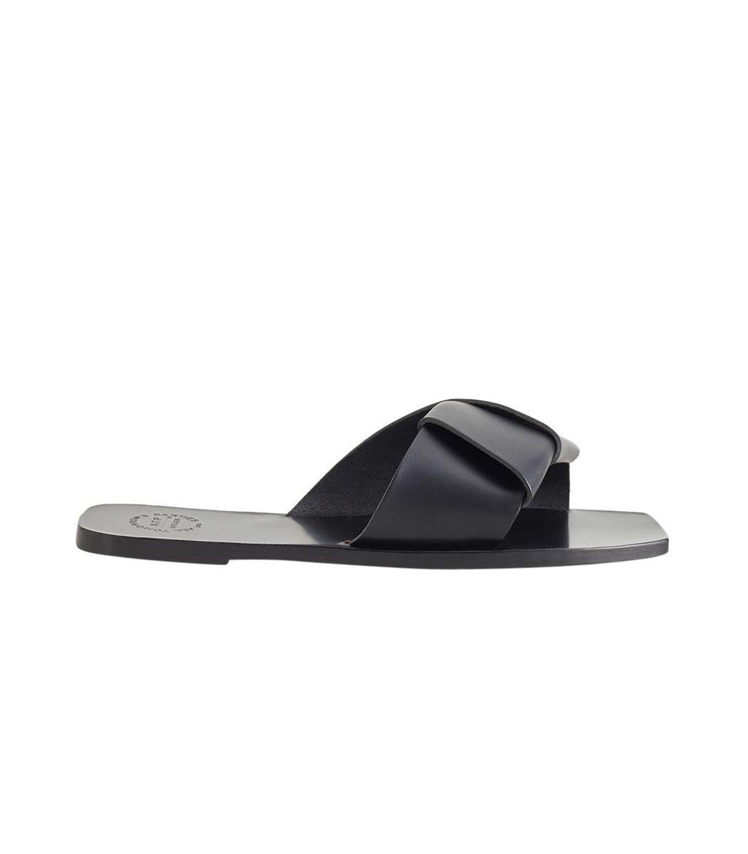 Atp Atelier Black Carpari Leather Sandals