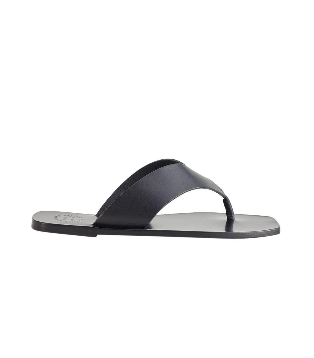 Atp Atelier Black Merine Leather Sandals