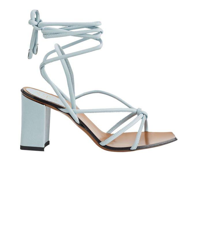 andria light blue sandals