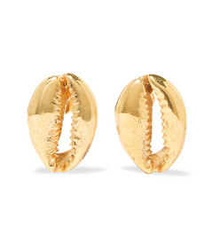 large puka gold-plated earrings