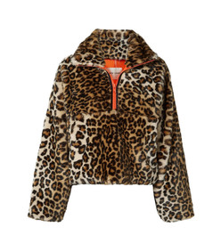garbanzo leopard-print faux fur jacket