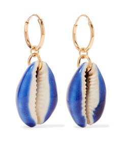 merco gold-plated shell earrings