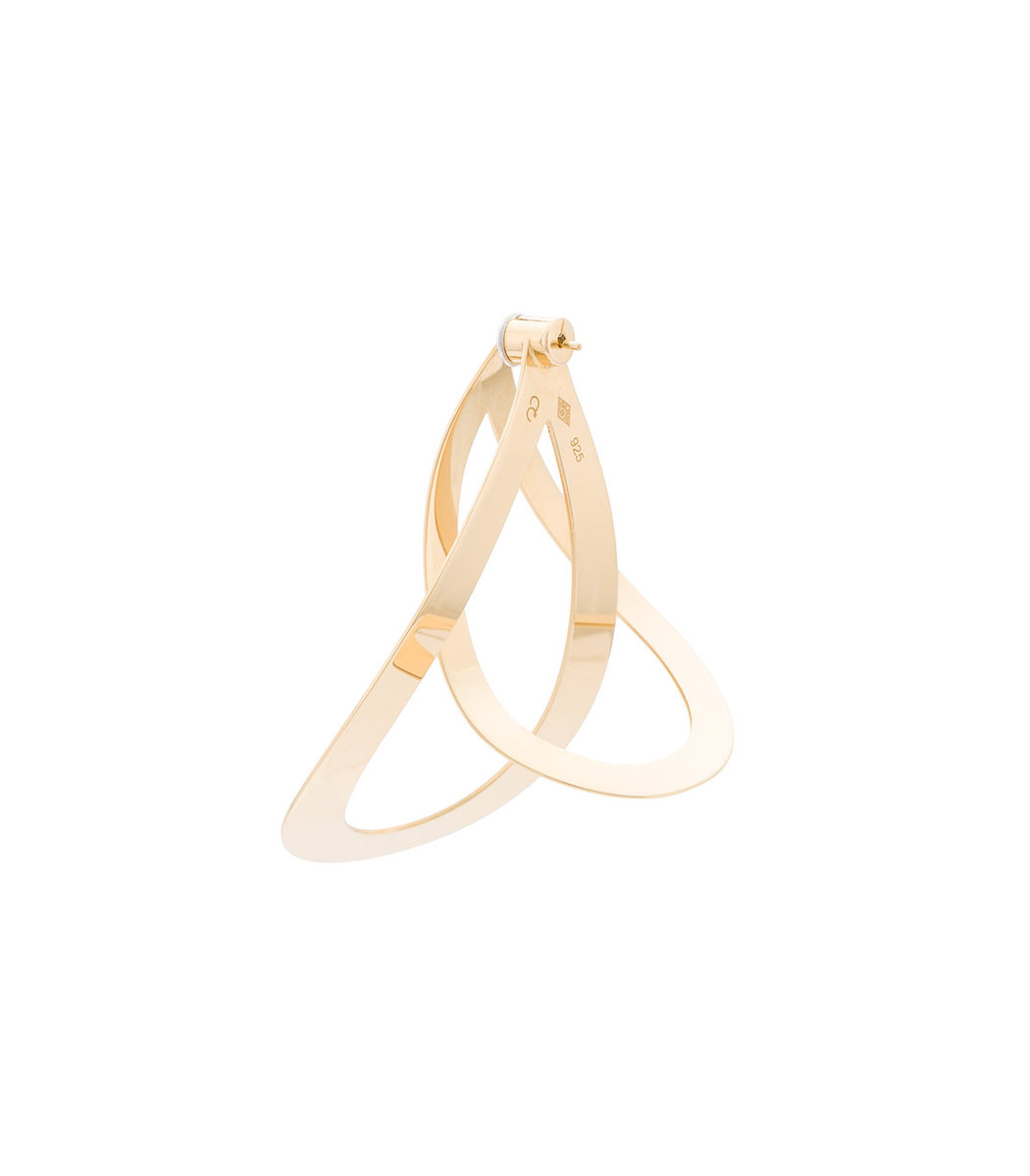 Charlotte Chesnais gold vermeil Maxi Endless earring K129UMQ