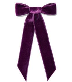 velvet bow hairclip