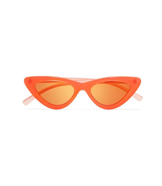 adam selman the last lolita cat-eye neon acetate mirrored sunglasses
