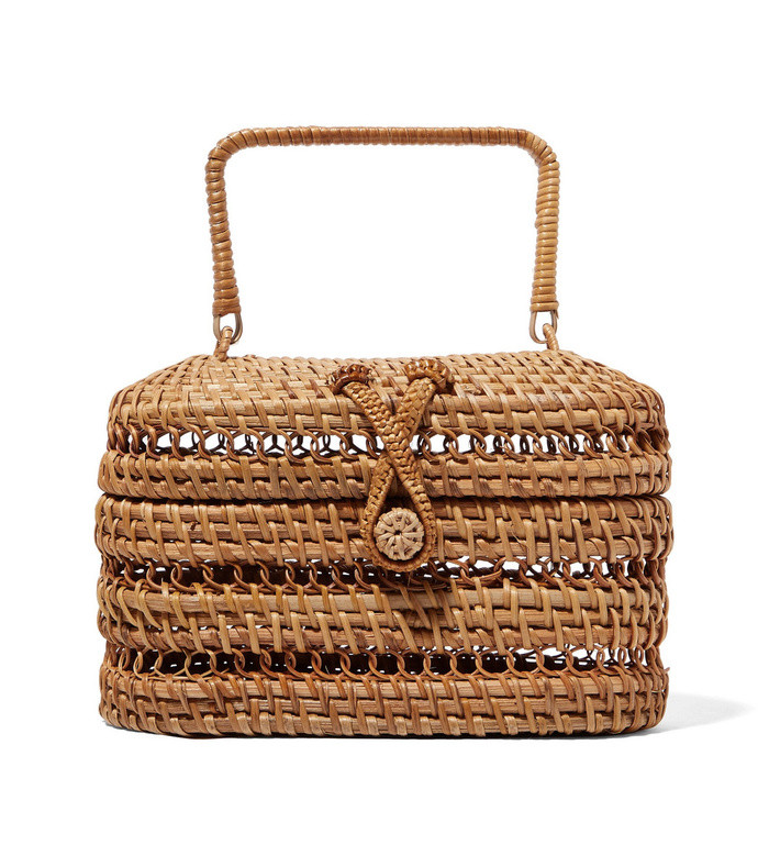 max rattan and bamboo tote