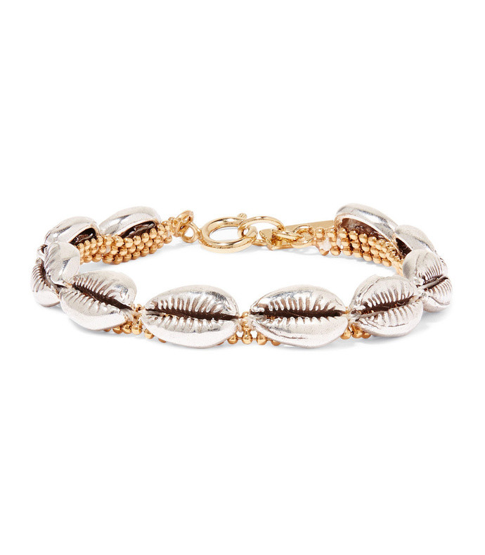 new pool silver and gold-tone bracelet