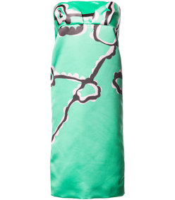 green strapless sheath dress