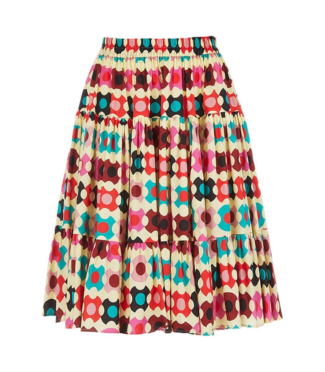 La Doublej Love Skirt in Groovy Dot Giallo