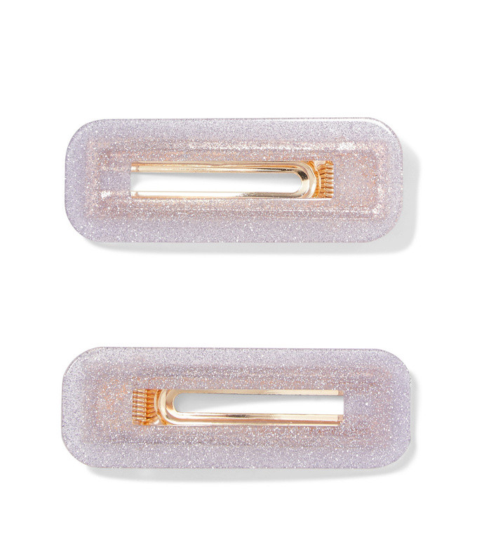 greta set of 2 glittered resin hair clips