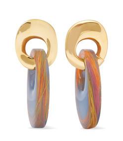 finn gold-plated and resin earrings