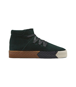 green skate mid sneakers