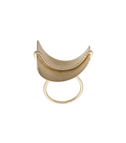 gold aligned sail ring