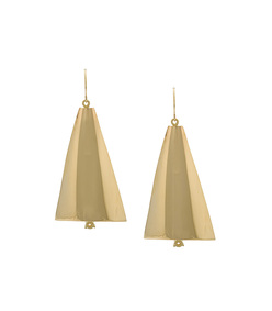 gold pair aligned sail earrings