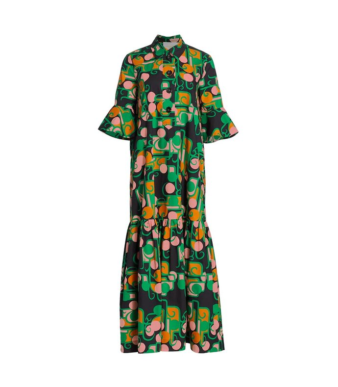 artemis deco maxi dress