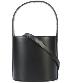 black bissett leather bucket bag