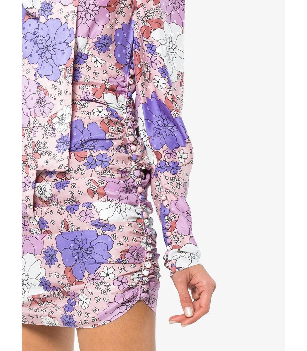 Silk Neck Tie Floral Mini Dress Magda Butrym ExupTLpG45