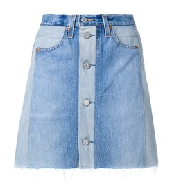 indigo seventies box levi's high-waist mini skirt