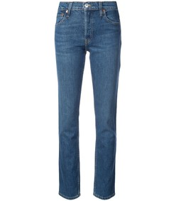 the crawford high-rise straight-leg jeans