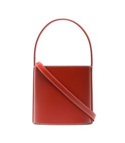 red bissett leather bucket bag
