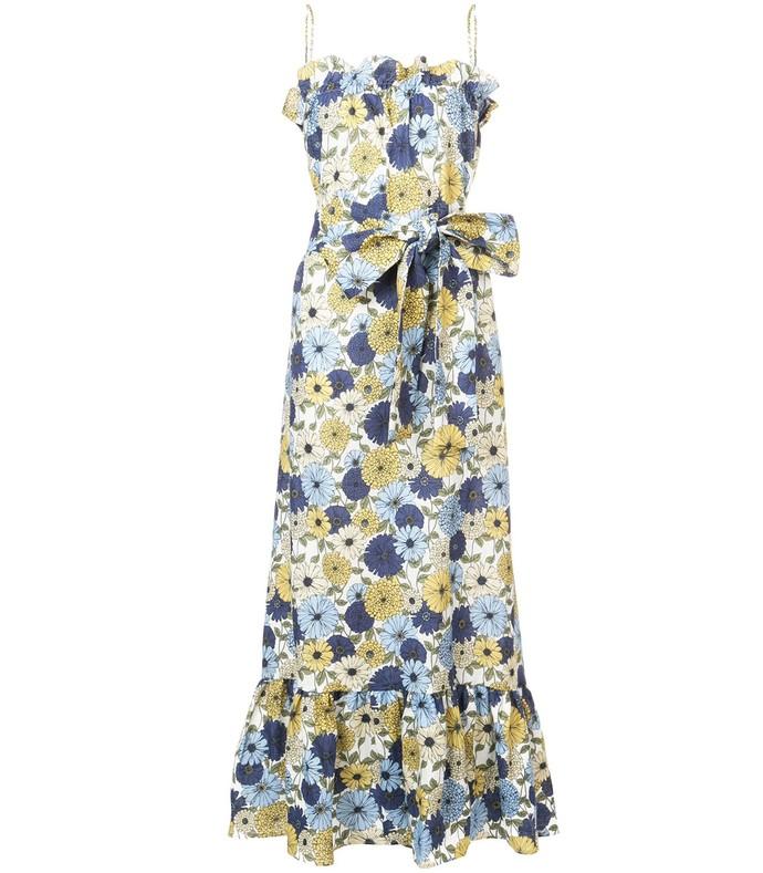 multicolor floral print maxi dress