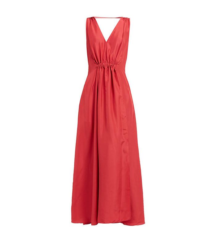 felicienne v-neck silk maxi dress