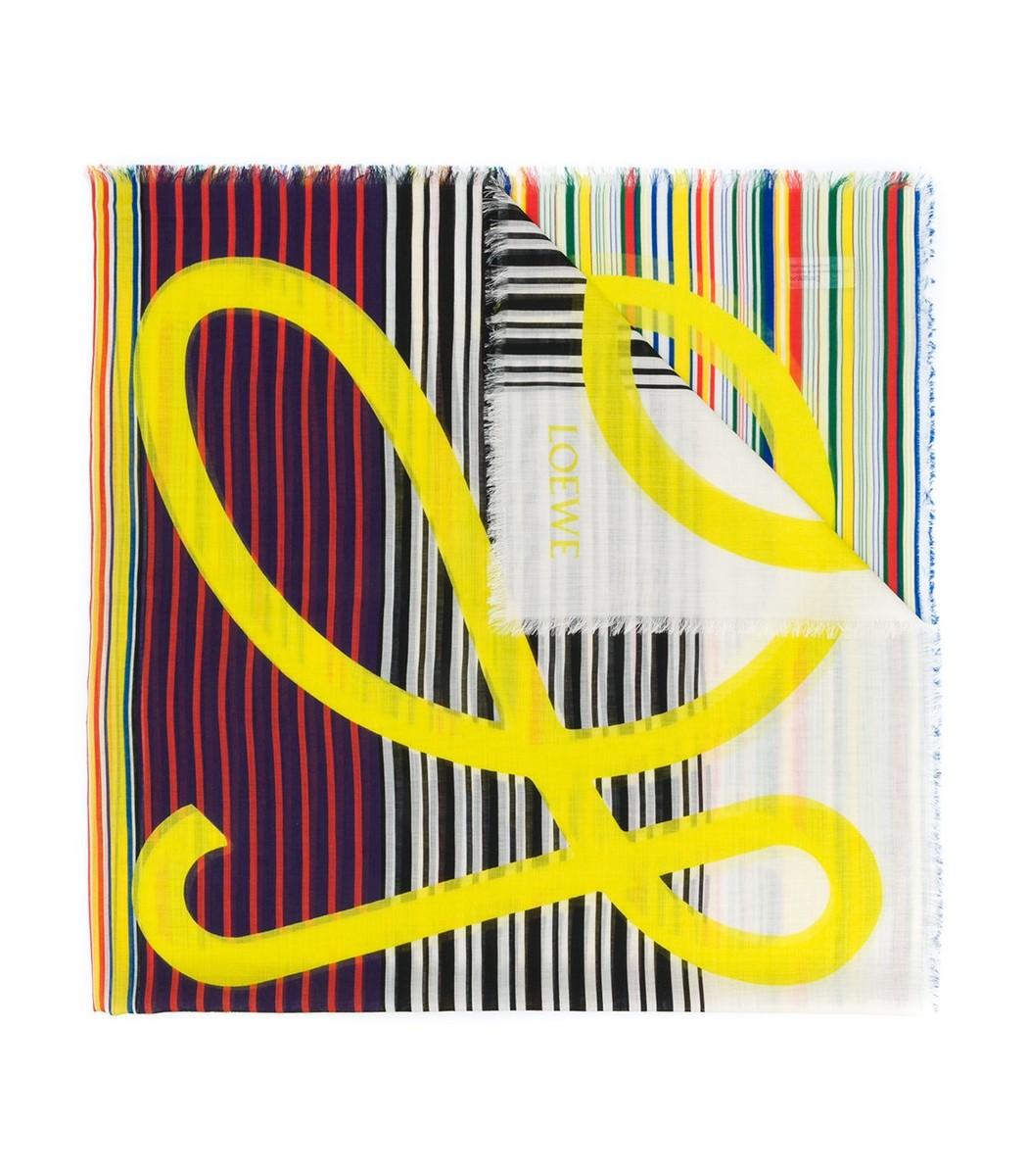 LOEWE Multicolor Logo Striped Scarf