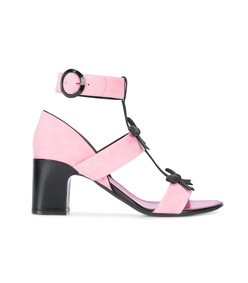 pink city bow sandals